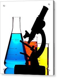 Microscope In Laboratory Acrylic Print