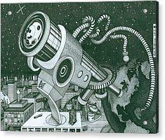 Microscope Or Telescope Acrylic Print by Richie Montgomery