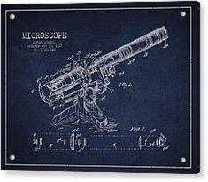 Microscope Patent Drawing From 1915 Acrylic Print