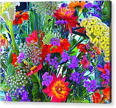 Mid August Bouquet Acrylic Print