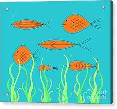 Mid Century Fish 2 Acrylic Print