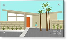 Mid Century Modern House 1 Acrylic Print by Donna Mibus