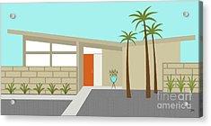 Mid Century Modern House 1 Acrylic Print