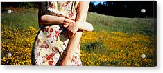 Mid Section View Of A Girl Hugging Acrylic Print by Panoramic Images