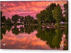 Mid Summers Sunset Acrylic Print