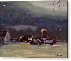 Acrylic Print featuring the painting Mid Winter by Len Stomski