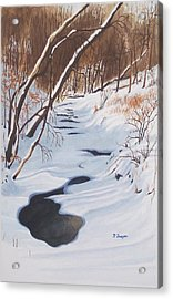 Mid Winter On The Alexauken Acrylic Print