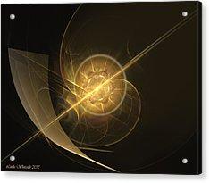 Acrylic Print featuring the digital art Midas Astral by Linda Whiteside