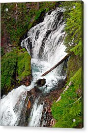 Middle Of Red Blanket Falls Acrylic Print by Teri Schuster