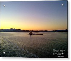 Acrylic Print featuring the photograph Middle Sea Sunrise by Ramona Matei