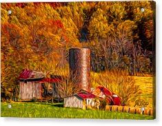 Middleburg Silo And Outbuildings Acrylic Print