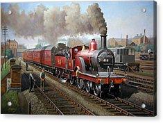 Midland Railway Single 1896. Acrylic Print