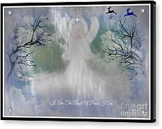 Midnight Angel Of Peace Acrylic Print by Sherri's Of Palm Springs