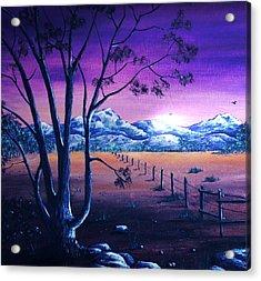 Midnight At The Border Acrylic Print by Anastasiya Malakhova