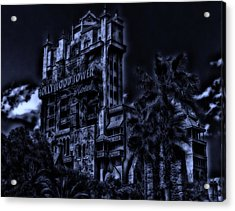 Midnight At The Tower Of Terror Acrylic Print
