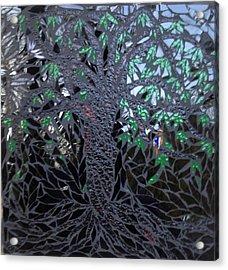 Midnight Banyan Acrylic Print by Alison Edwards