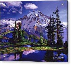Midnight Blue Lake Acrylic Print by David Lloyd Glover