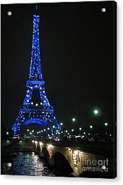 Acrylic Print featuring the photograph Midnight Blue by Suzanne Oesterling