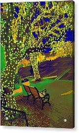 Midnight Lighting Highland Park Texas Acrylic Print by ARTography by Pamela Smale Williams