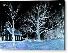Midnight Country Church Acrylic Print