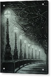 Midnight Dreary Acrylic Print