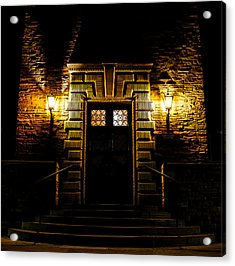 Acrylic Print featuring the photograph Midnight Entryway by Rhys Arithson