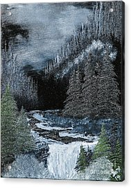 Midnight Falls Acrylic Print by Dave Atkins