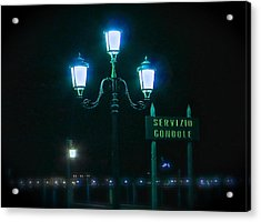 Midnight In Venice Acrylic Print by Rita Mueller