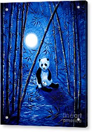 Midnight Lullaby In A Bamboo Forest Acrylic Print by Laura Iverson