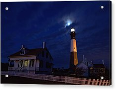Midnight Moon Over Tybee Island Acrylic Print
