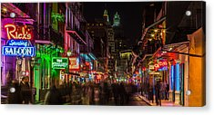 Midnight On Bourbon Street Acrylic Print