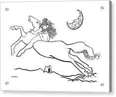 Midnight On Horseback Acrylic Print by Ch' Brown