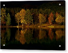 Midnight On The Lake Acrylic Print