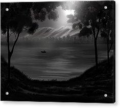 Midnight On The Lake Acrylic Print by Steve Hermann