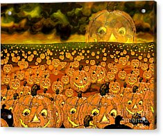 Midnight Pumpkin Patch Acrylic Print by Carol Jacobs
