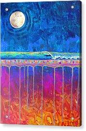 Midnight Run Acrylic Print by Dawn Gray Moraga