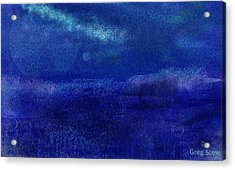 Midnight Sea Passage Acrylic Print by Greg Stew
