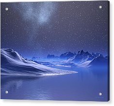 Midnight Snow Acrylic Print