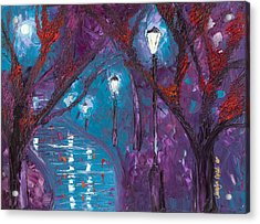Midnight Soliloquy  Acrylic Print by Jessilyn Park