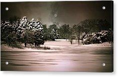 Midnight Stillness Acrylic Print by Julie Palencia