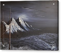 Acrylic Print featuring the painting Midnight by Stuart Engel