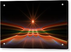 Midnight Sun Acrylic Print by GJ Blackman