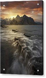 Midnight Sun II Acrylic Print by David Mart?n Cast?n