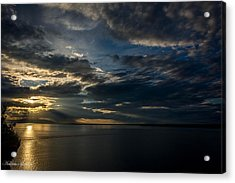 Midnight Sun Over Cook Inlet Acrylic Print by Andrew Matwijec