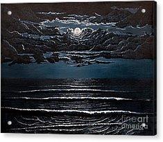 Midnight Surf Acrylic Print by Jeff McJunkin