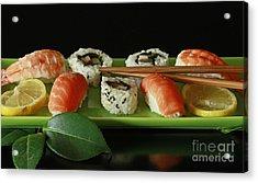 Midnight Sushi Indulgence Acrylic Print by Inspired Nature Photography Fine Art Photography