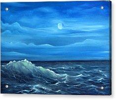 Midnight Wave Acrylic Print