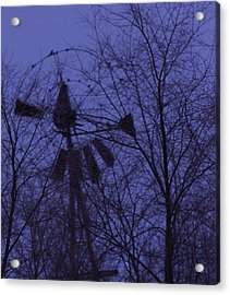 Midnight Windmill Acrylic Print by Todd Sherlock
