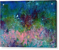 Midnight's Garden Acrylic Print by P J Lewis