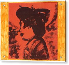 Acrylic Print featuring the painting Midori The Geisha by Don Koester